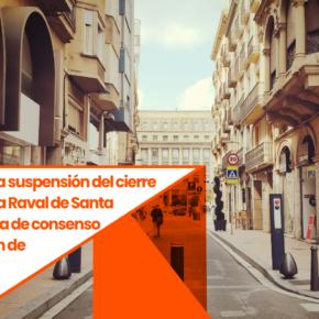 Ciutadans (Cs) reclama la suspensión del cierre al tráfico del Raval Santa Anna por falta de consenso y vulneración de derechos