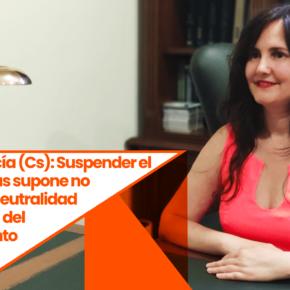 """Débora García (Cs): """"Suspender el pleno de Reus supone no respetar la neutralidad institucional del Ayuntamiento"""""""