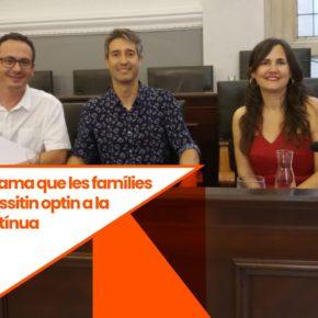 Ciutadans Reus reclama que les famílies que ho necessitin optin a la jornada contínua