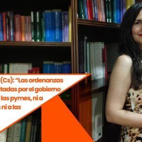 """Débora García (Cs): """"Las ordenanzas fiscales presentadas por el gobierno no ayudan ni a las pymes, ni a los autónomos ni a las familias a salir de la crisis"""""""
