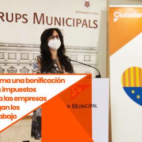 Ciutadans Reus reclama una bonificación del 95% de los impuestos municipales a las empresas que mantengan los puestos de trabajo
