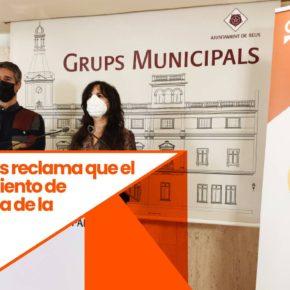 Ciudadanos (Cs) reclama que el Ayuntamiento de Reus salga de la Asociación de Municipios por la Independencia