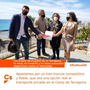 Ciutadans (Cs) apuesta por un tren-tranvía competitivo y fiable, que sea una opción real al transporte privado en el Camp de Tarragona